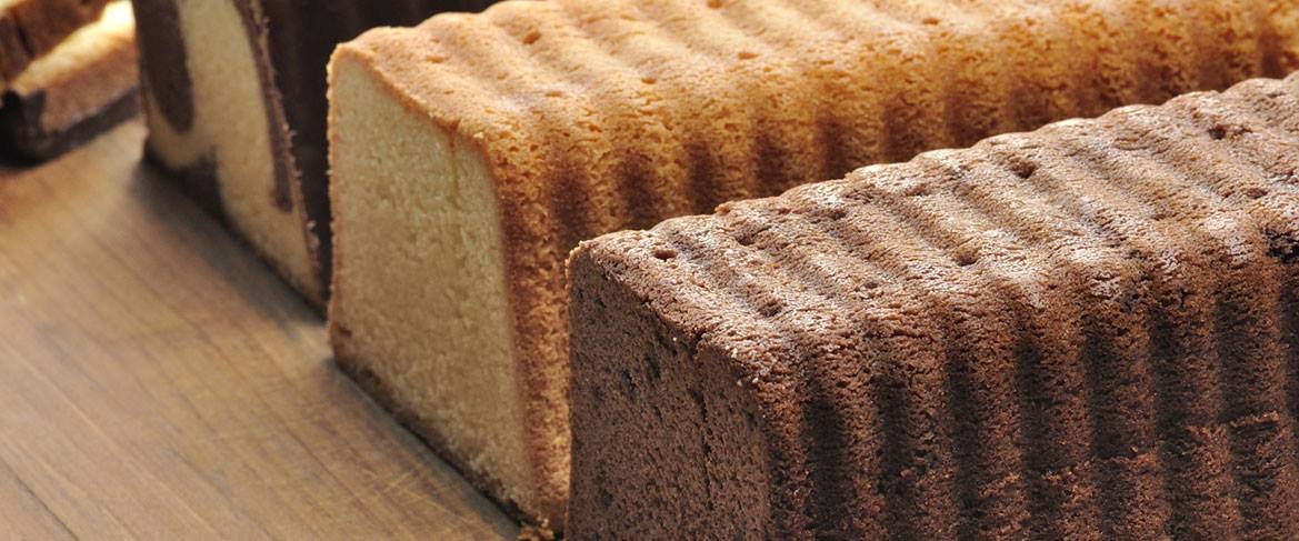 Moister pound cake with whey ingredients