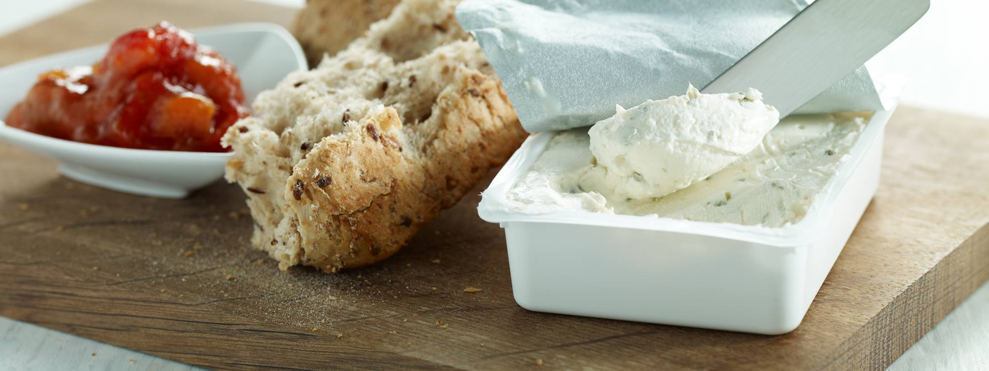Smooth Cream cheese with optimised yield