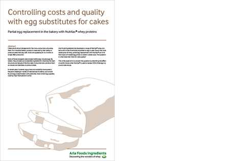Controlling costs and quality with egg substitutes for cakes - Whitepaper