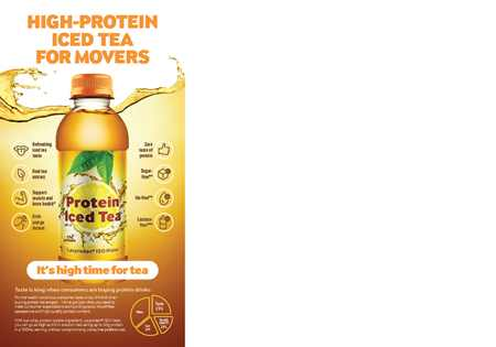 High-protein iced tea for movers and shakers