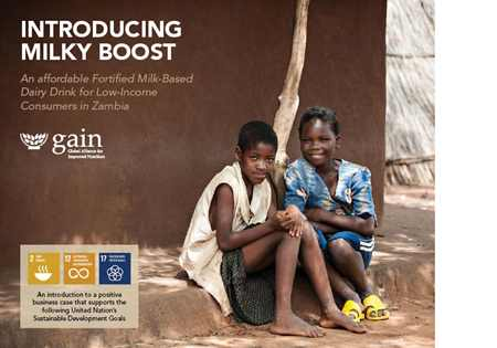 An affordable fortified milk-based dairy drink for low-income consumers in Zambia